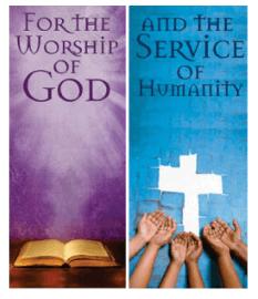 Worship God. Serve Humanity